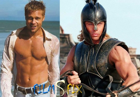 Acteur Physique Brad Pitt Troie Muscle Normal 580x403