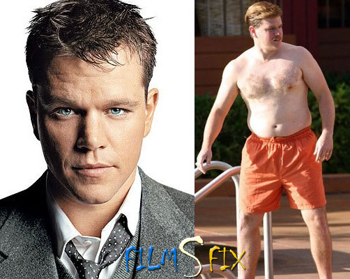 Acteur Physique Matt Damon Informant Gros Normal