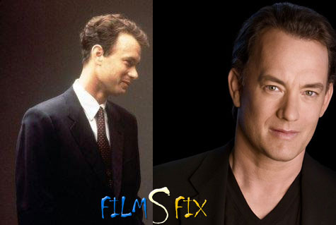 Acteur Physique Tom Hanks Philadelphia Maigre Normal