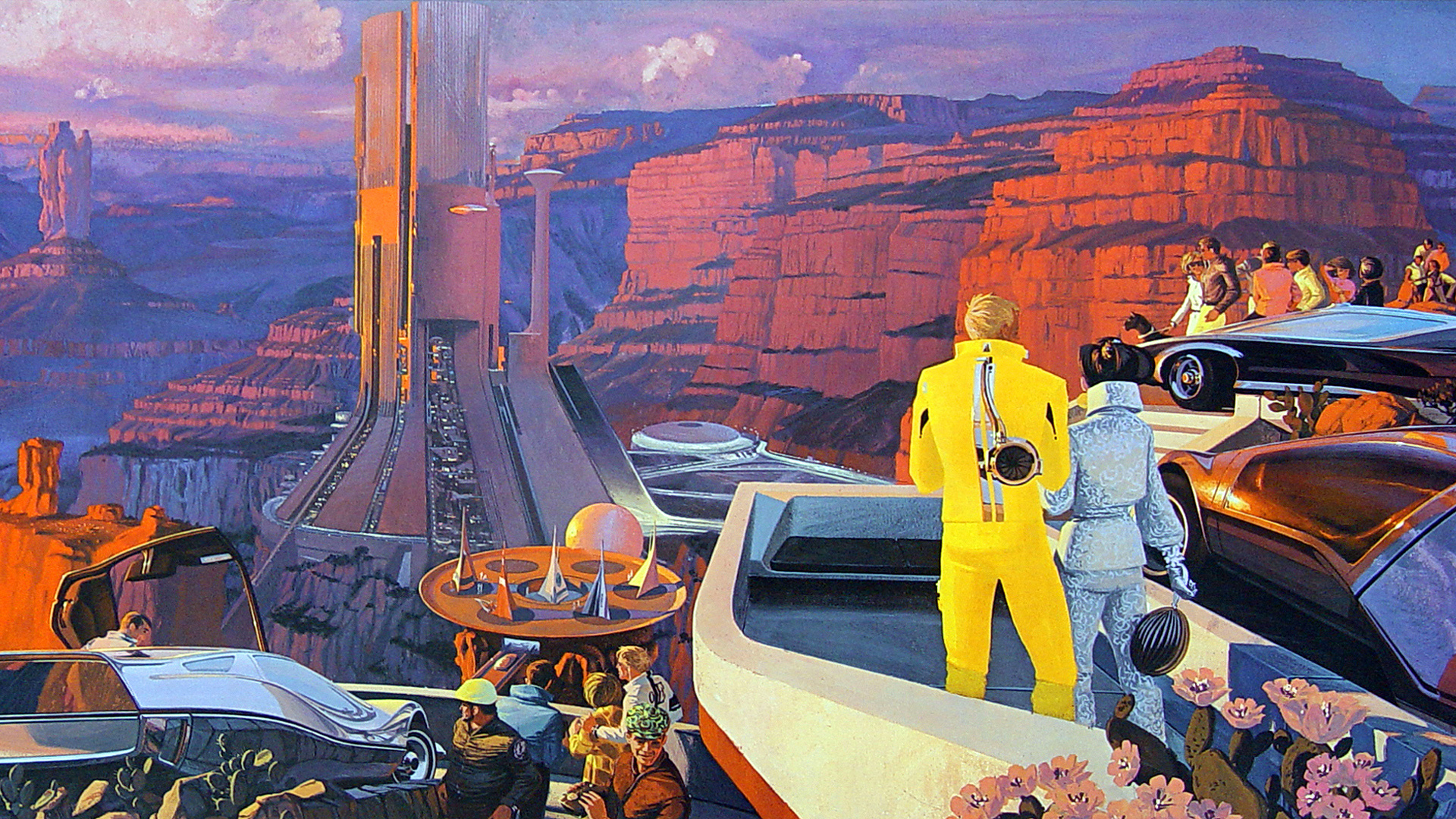 Retro Future Vision Of The Arizona Desert By John Berkey And Syd Mead X Post With R ImaginaryLandscapes