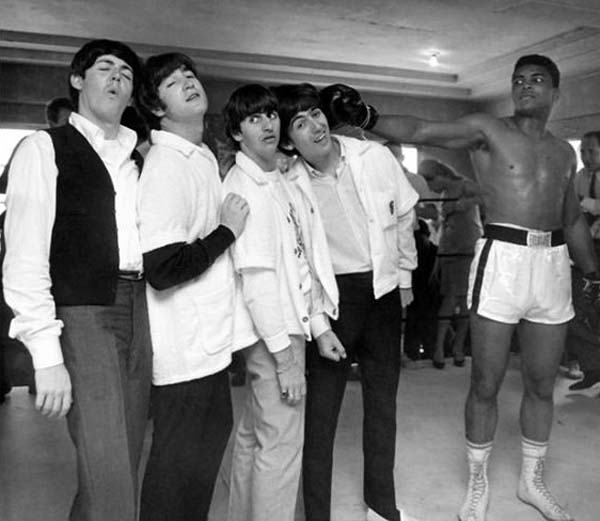 Les Beatles et Mohamed Ali, 1964.